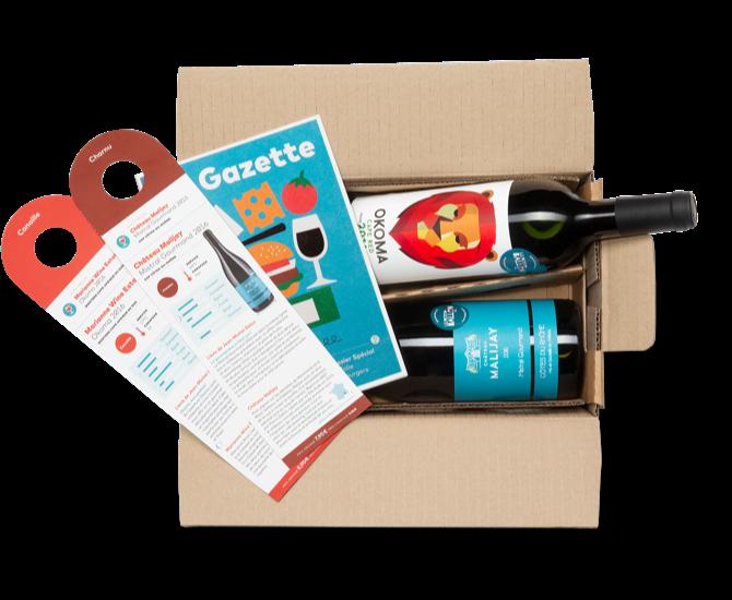 notre gamme de box vins et produits gourmets